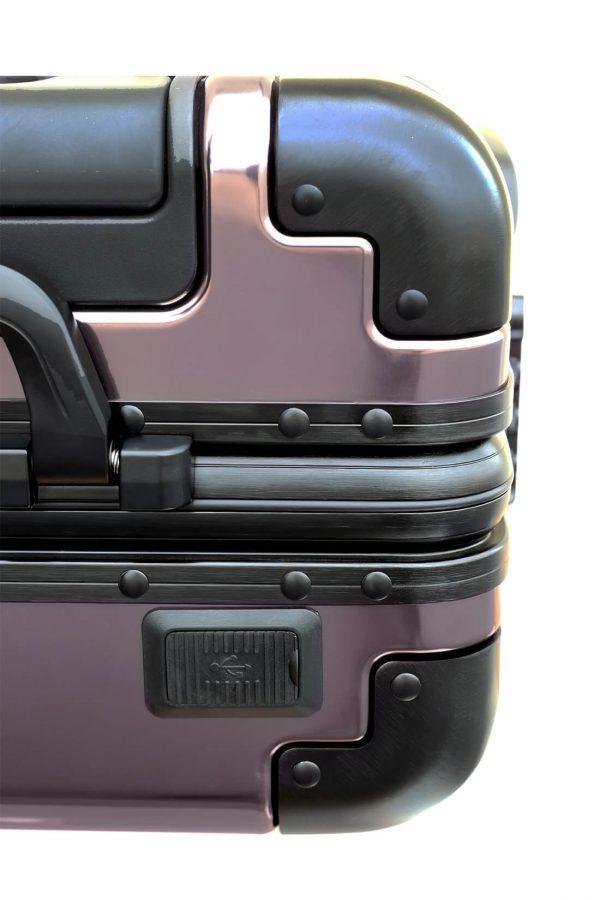 Valigia da cabina in alluminio divertimento online per giovani urbani con caricatore usb TOKYOTO LUGGAGE 1