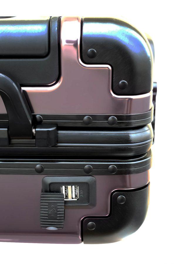 Valigia da cabina in alluminio divertimento online per giovani urbani con caricatore usb TOKYOTO LUGGAGE 4