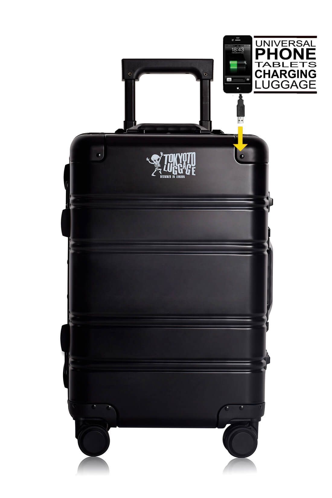 Valigie In Alluminio Premium Trolley da Cabina TOKYOTO LUGGAGE model BLACK LOGO 1