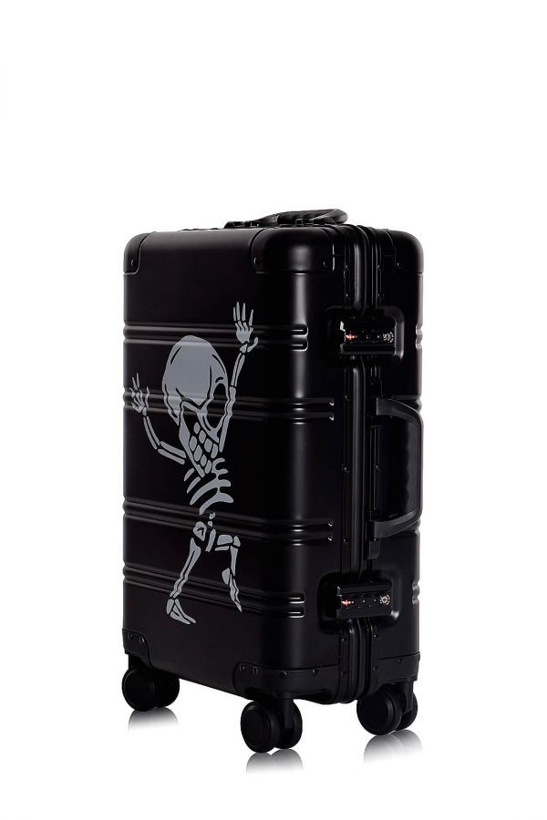 Valigie In Alluminio Premium Trolley da Cabina TOKYOTO LUGGAGE model Black SKULL
