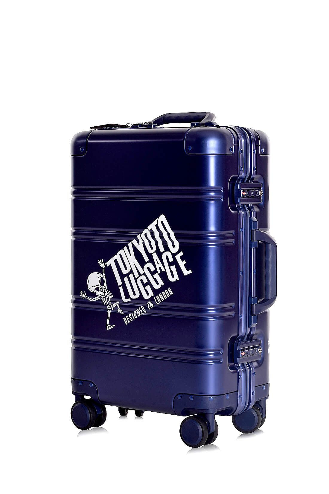Valigie In Alluminio Premium Trolley da Cabina TOKYOTO LUGGAGE model BLUE SKULL