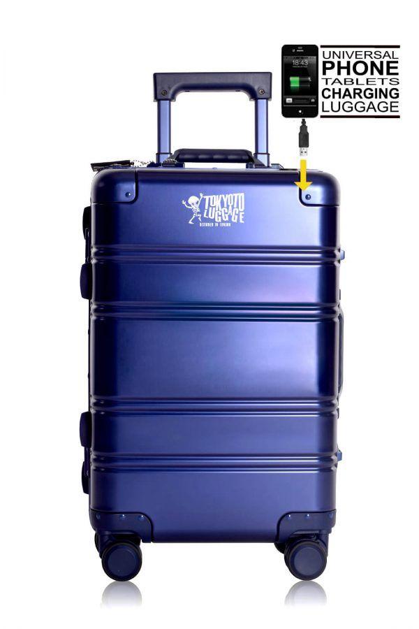 Valigie In Alluminio Premium Trolley da Cabina TOKYOTO LUGGAGE model BLUE LOGO 8
