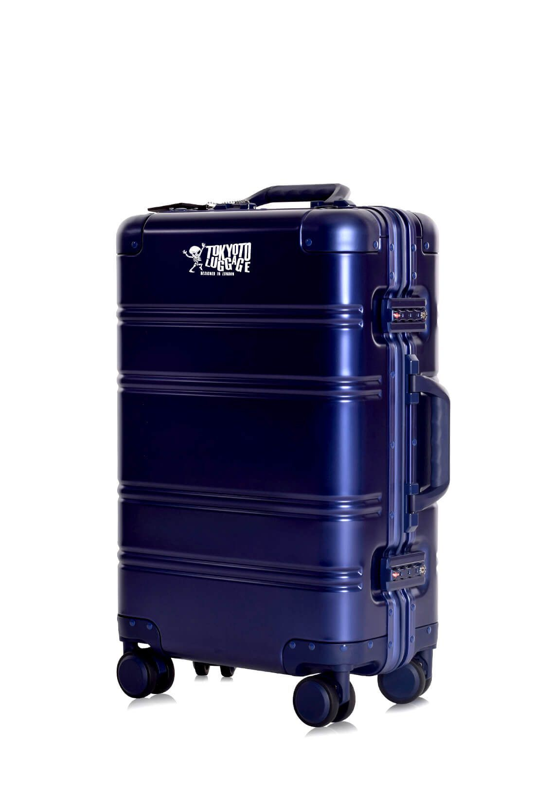 Valigie In Alluminio Premium Trolley da Cabina TOKYOTO LUGGAGE model BLUE LOGO 9