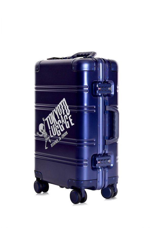 Valigie In Alluminio Premium Trolley da Cabina TOKYOTO LUGGAGE model BLUE SKULL