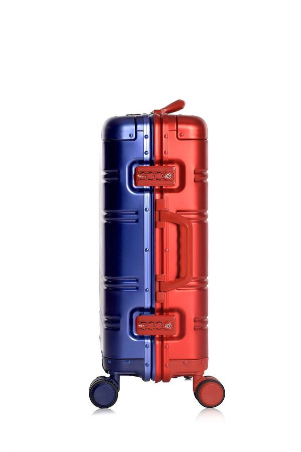 Valigie In Alluminio Premium Trolley da Cabina TOKYOTO LUGGAGE model BLUE RED LOGO 8