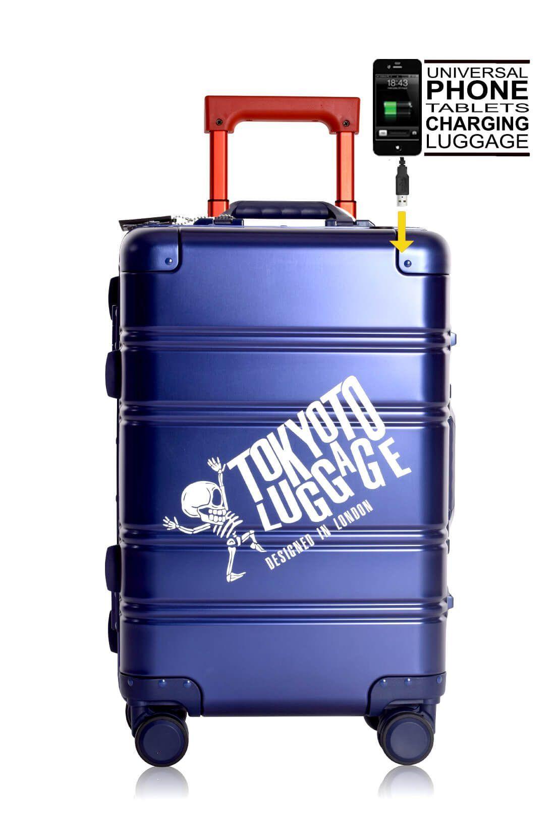 Valigie In Alluminio Premium Trolley da Cabina TOKYOTO LUGGAGE model BLUE RED LOGO 8