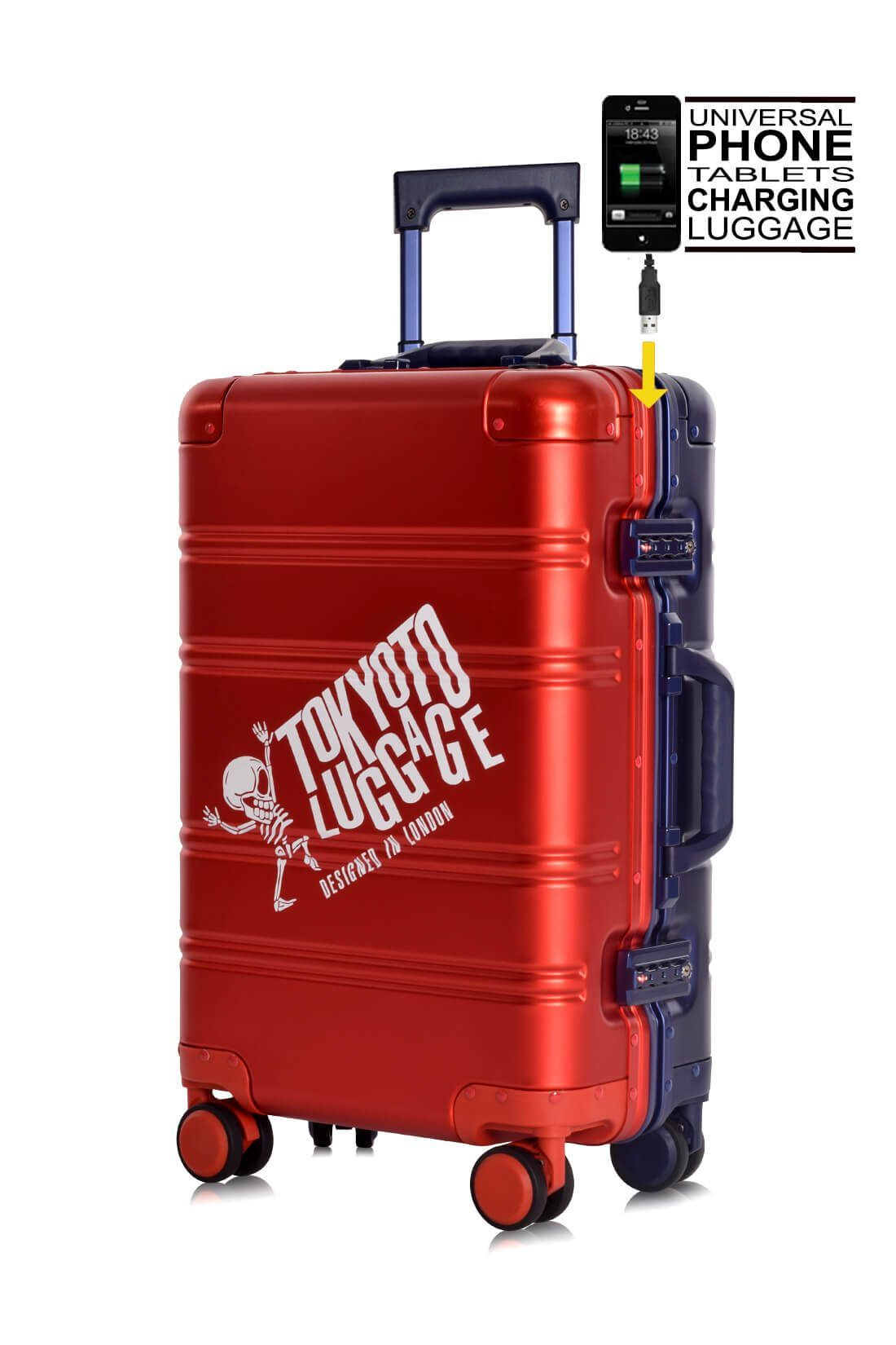 Valigie In Alluminio Premium Trolley da Cabina TOKYOTO LUGGAGE model RED BLUE