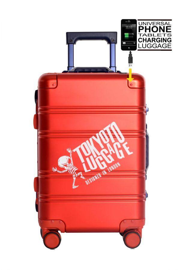 Valigie In Alluminio Premium Trolley da Cabina TOKYOTO LUGGAGE model RED BLUE