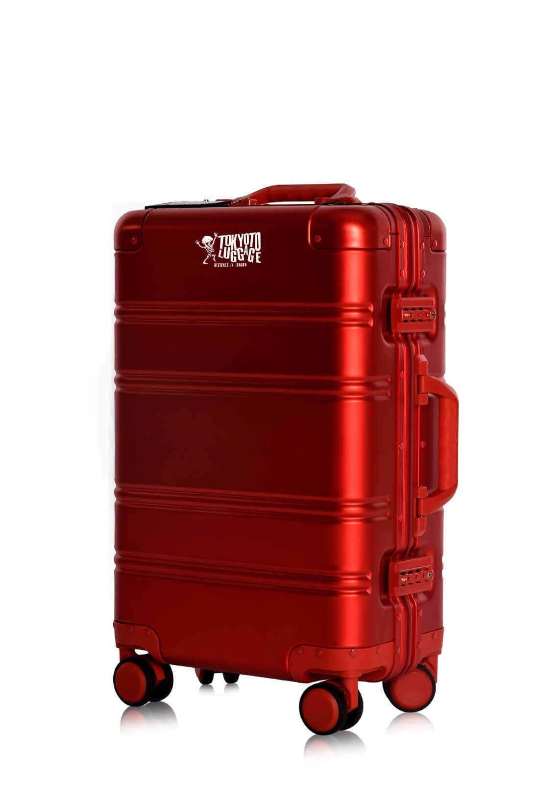 Valigie In Alluminio Premium Trolley da Cabina TOKYOTO LUGGAGE model RED LOGO 1