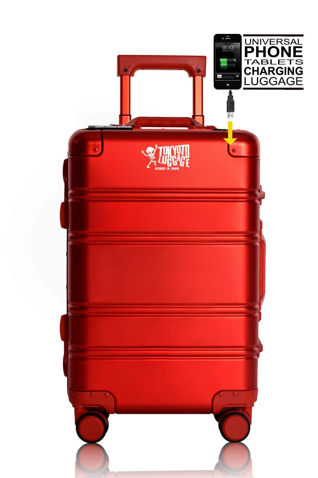 Valigie In Alluminio Premium Trolley da Cabina TOKYOTO LUGGAGE model RED LOGO 9