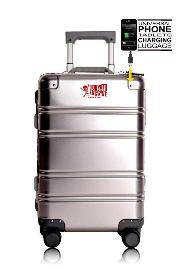 Valigie In Alluminio Premium Trolley da Cabina TOKYOTO LUGGAGE model SILVER LOGO 1