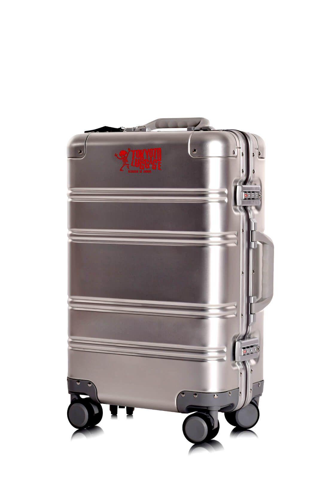 Valigie In Alluminio Premium Trolley da Cabina TOKYOTO LUGGAGE model SILVER LOGO 3