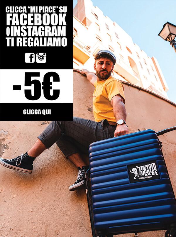 Valigia trolley Tinta Unita Cabina Mano Online Regalo Originale TOKYOTO LUGGAGE Sconto 5EUR